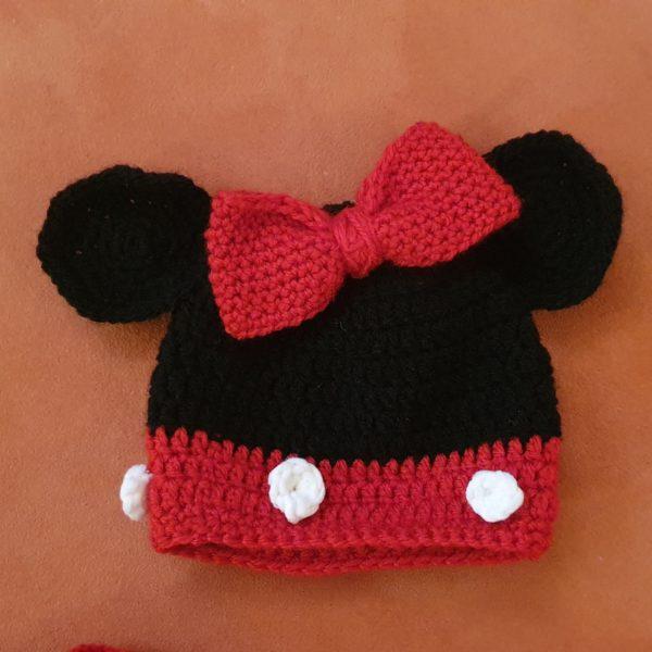 Babykostüm Minnie Maus Ohrenmütze